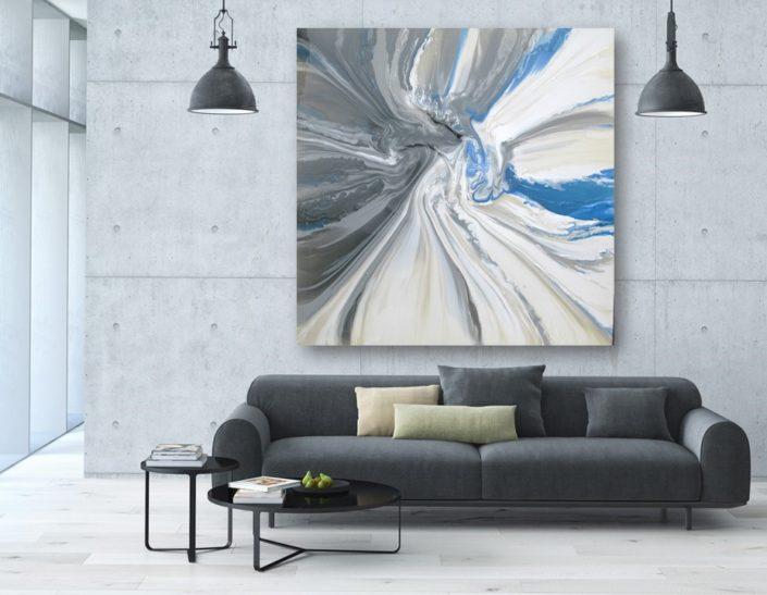 ORIGINAL blue gray white contemporary art abstract modern art canvas paintings for sale heidel bethel artist raya bethel Las Vegas Maui Beverly Hills Los Angeles La Jolla Aspen Santa Fe Miami Seattle Bellevue Kirkland